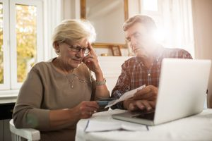 Elderly couple having problems with their finances
